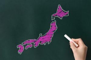 日本地図 黒板