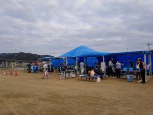 ボランティアセンターテント風景