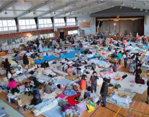 岩手県大船橋市の避難所