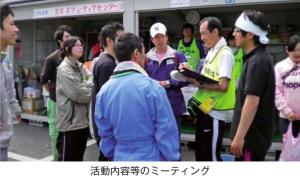 災害ボランティアの活動内容などのミーティング