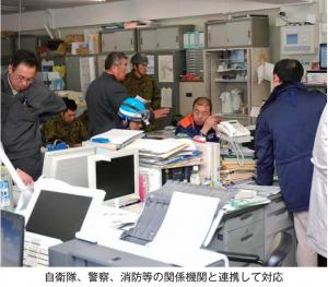 東日本大震災大船渡市自衛隊、警察、消防のなどの連携