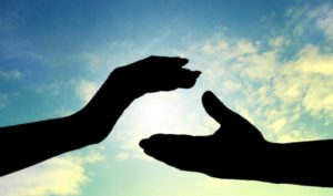 人との繋がり 二つの手