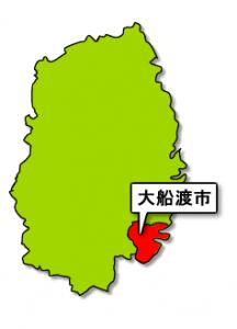 岩手県大船橋市地図