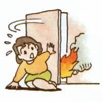 火事の初期消火の三原則早く逃げる
