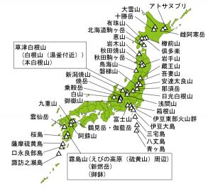 日本活火山一覧