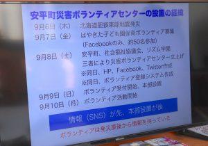 北海道胆振東部地震の後の行動