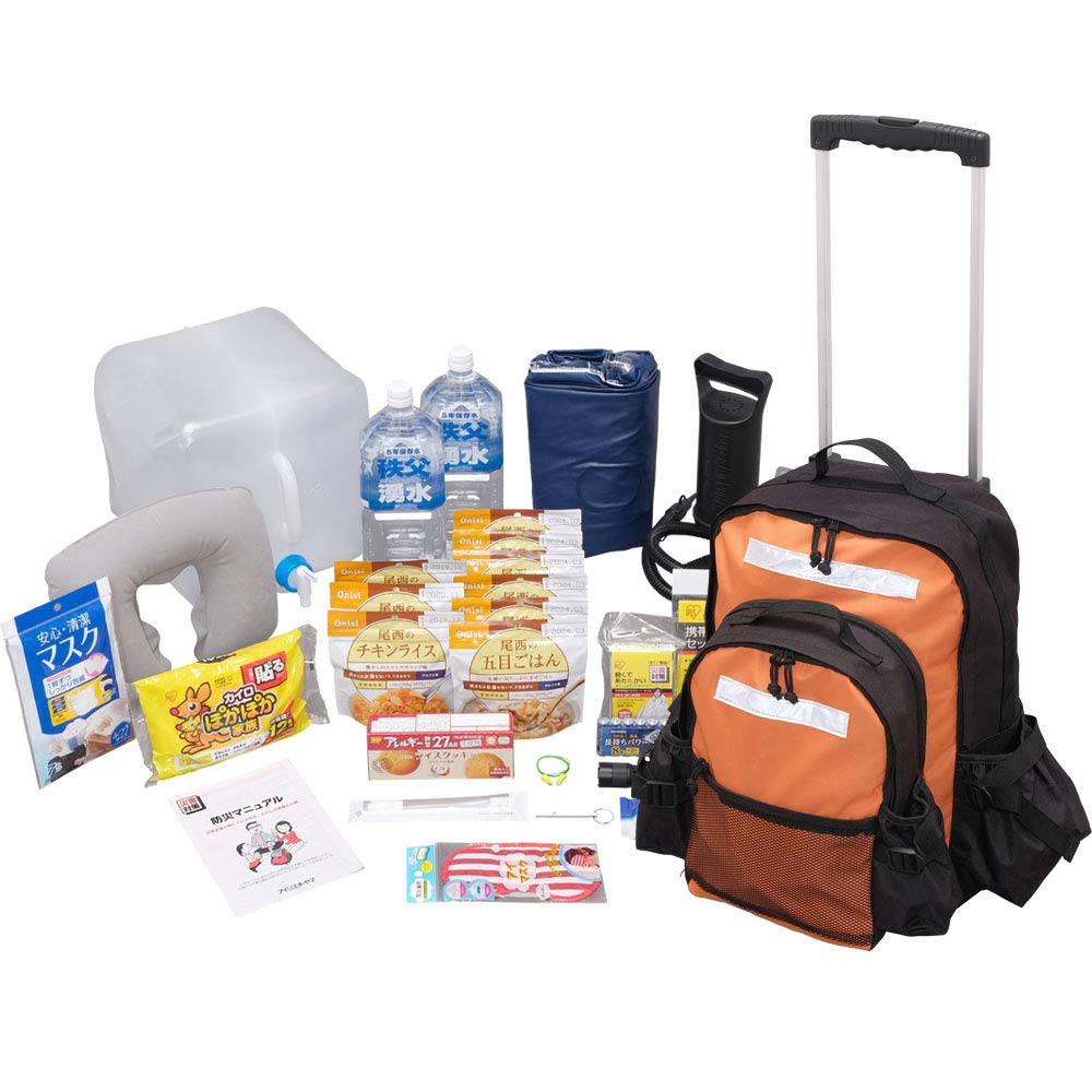 防災バッグのおすすめ製品その5:アイリスオーヤマ 緊急避難セット
